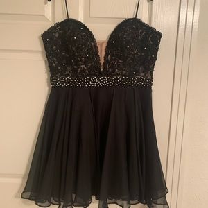 Sherri hill black beaded homecoming short dress 18